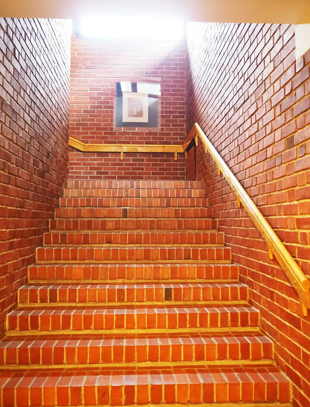 Säynätsalon kunnantalo punatiili portaat