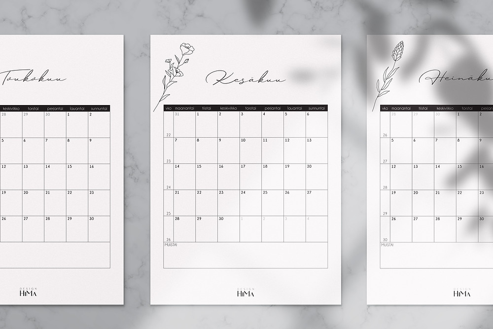 Design HiMan kalenteri 2021