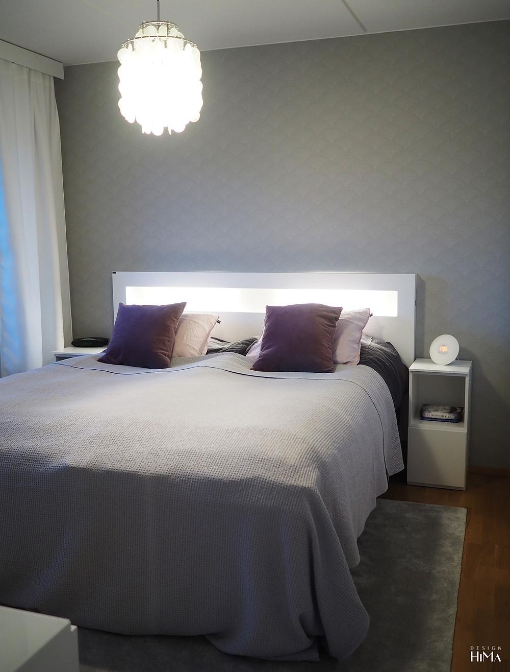 Sisustussuunnittelu makuuhuone