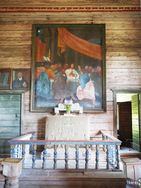 Petäjäveden vanha kirkko alttari