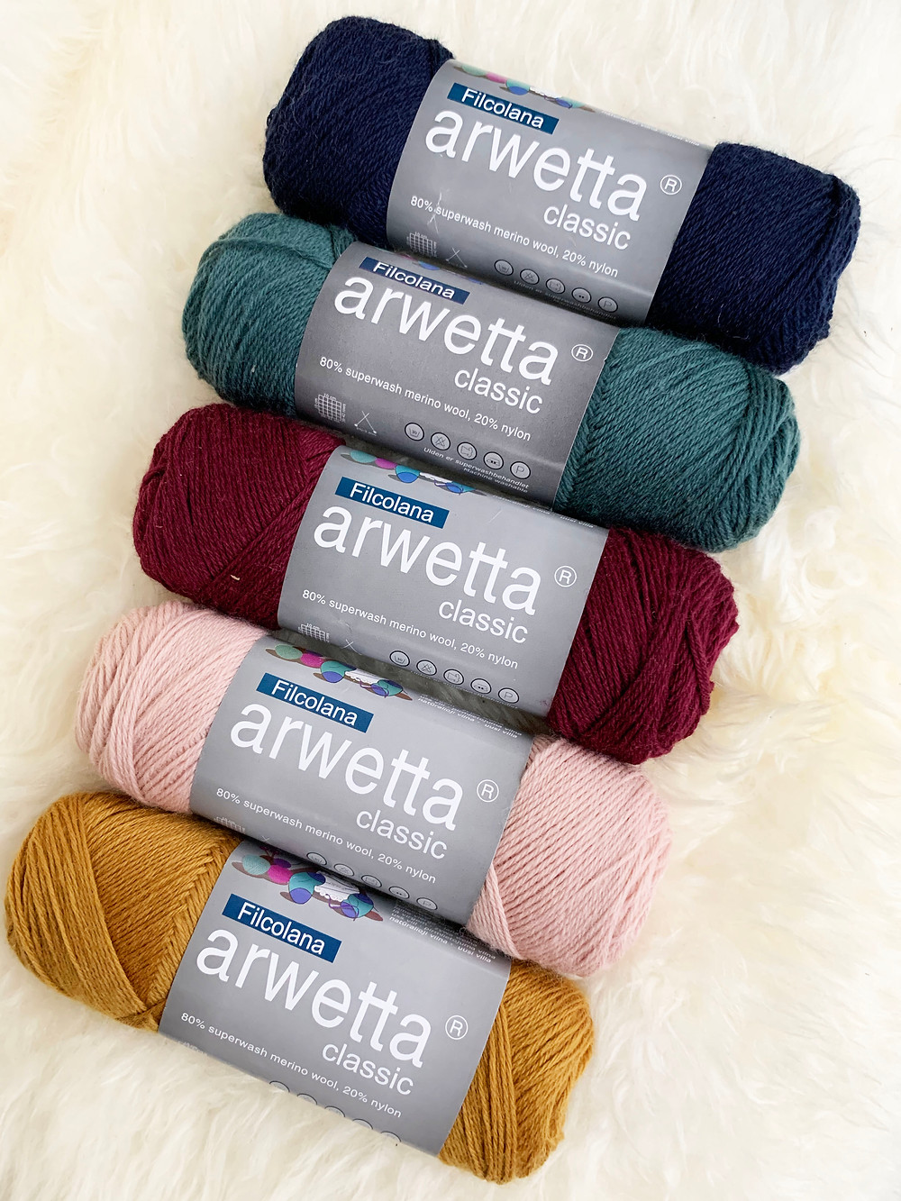 Arwetta Classic langat Design HiMan brändiväreissä