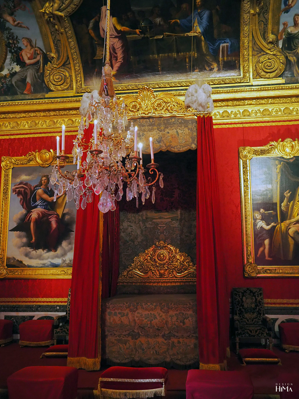 Versaillesin linna makuukamari