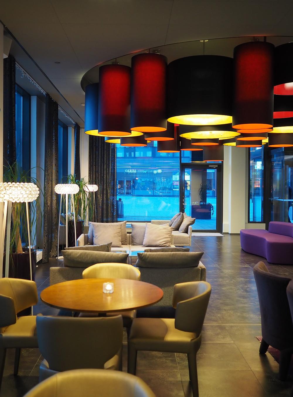 Solo Sokos Hotel Paviljonki lounge