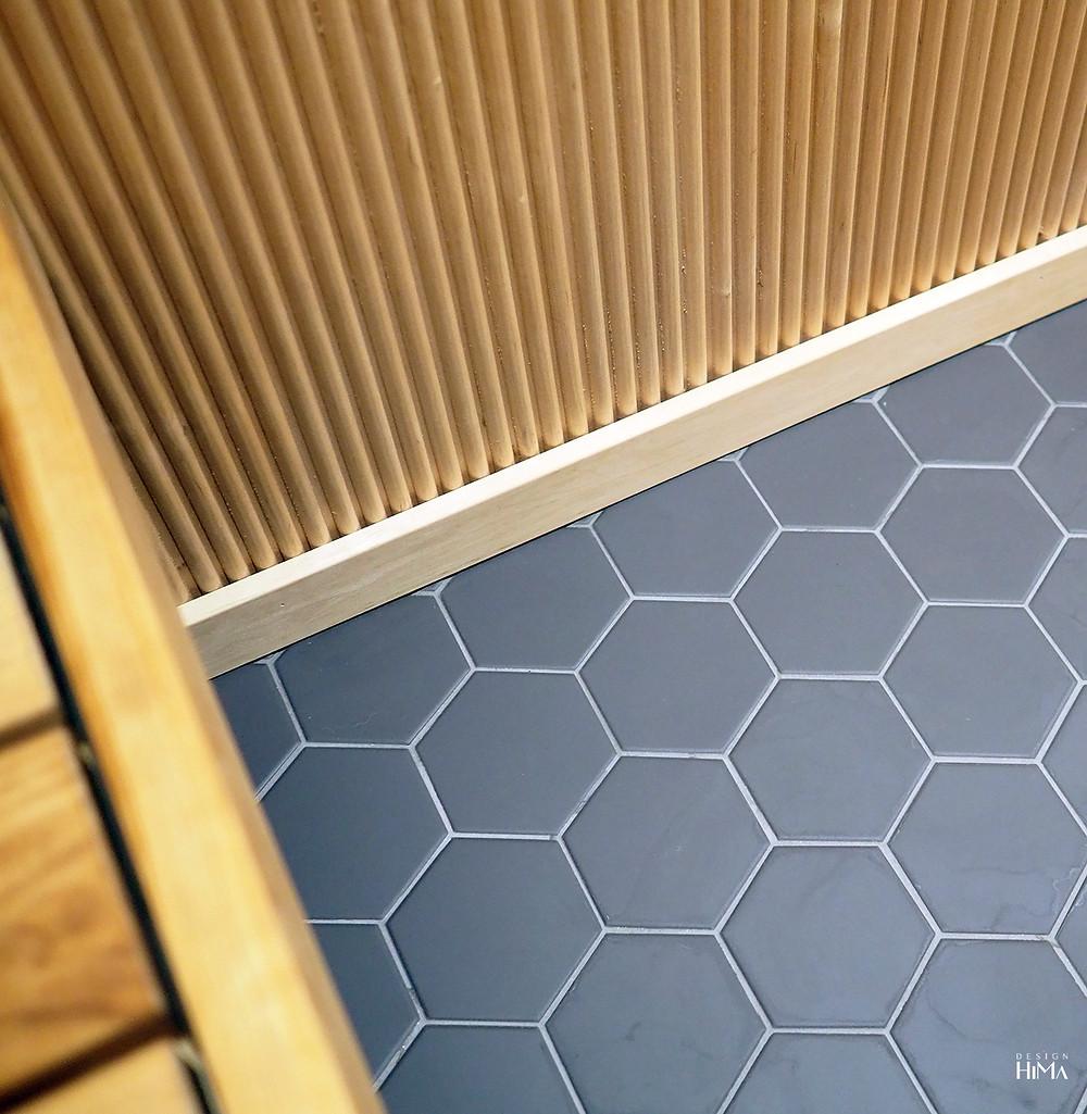 hexagon-laatta ja sormipaneeli