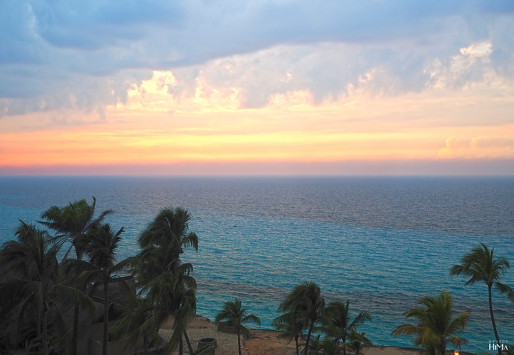Varadero Kuuba auringonlasku parvekkeelta