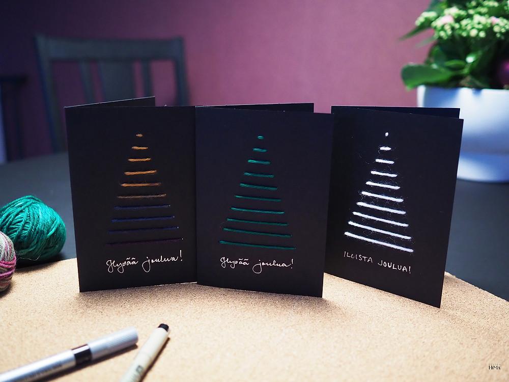 joulukuusi joulukortit