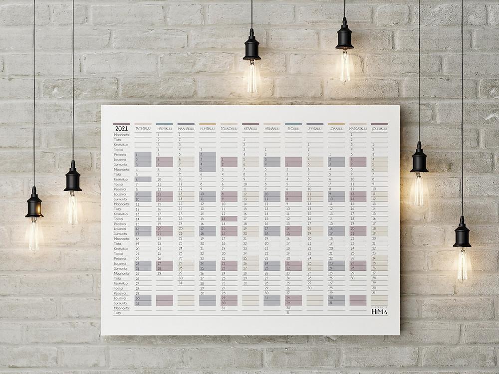 Design HiMa vuosikalenteri 2021