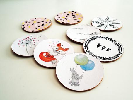 Helppo DIY-vinkki: askartele persoonalliset lasinaluset
