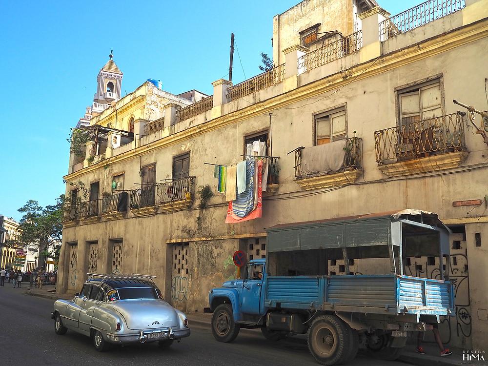 Pyykin kuivatusta Havannan vanhassa kaupungissa