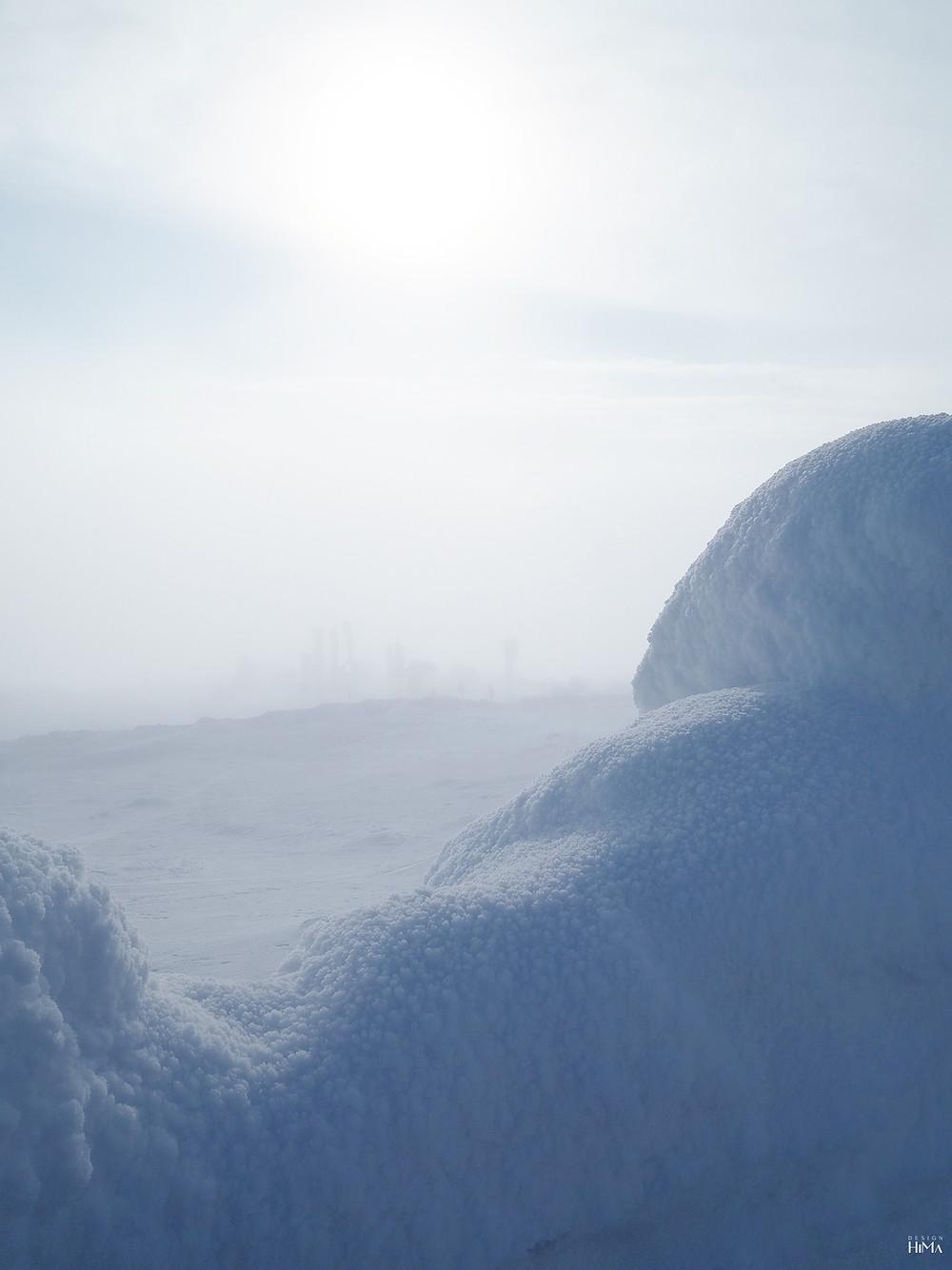 Pyhä luminen maisema