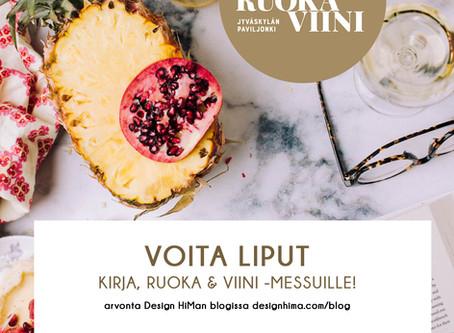 Jyväskylän Kirja, Ruoka & Viini -messut – VINKIT + LIPPUARVONTA