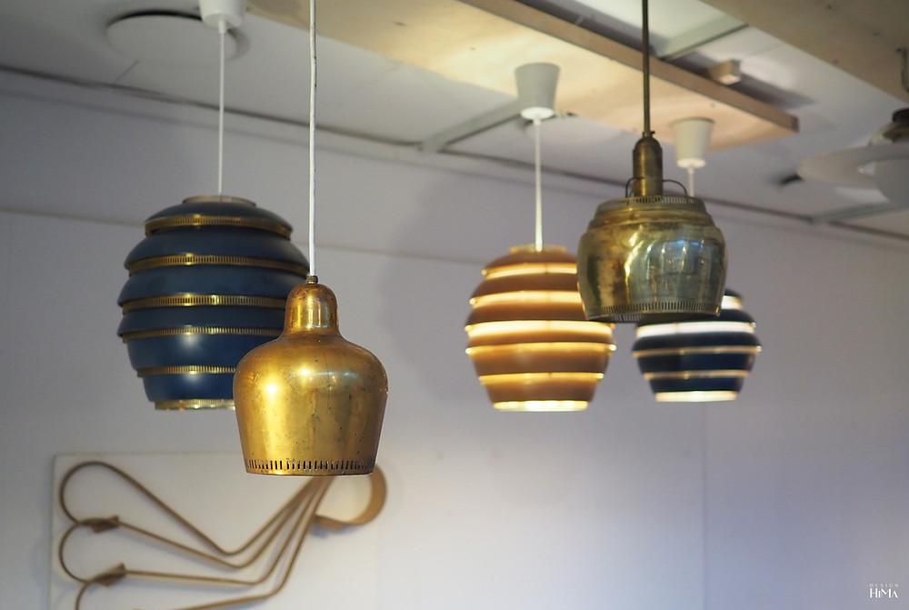 Golden Bell ja mehiläispesä valaisimet