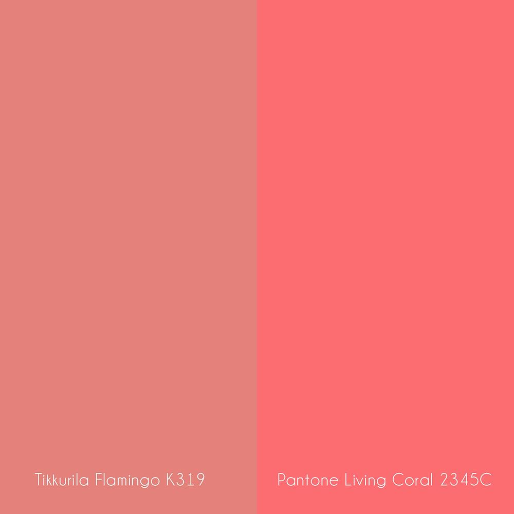 Tikkurila Flamingo ja Pantone Living Coral