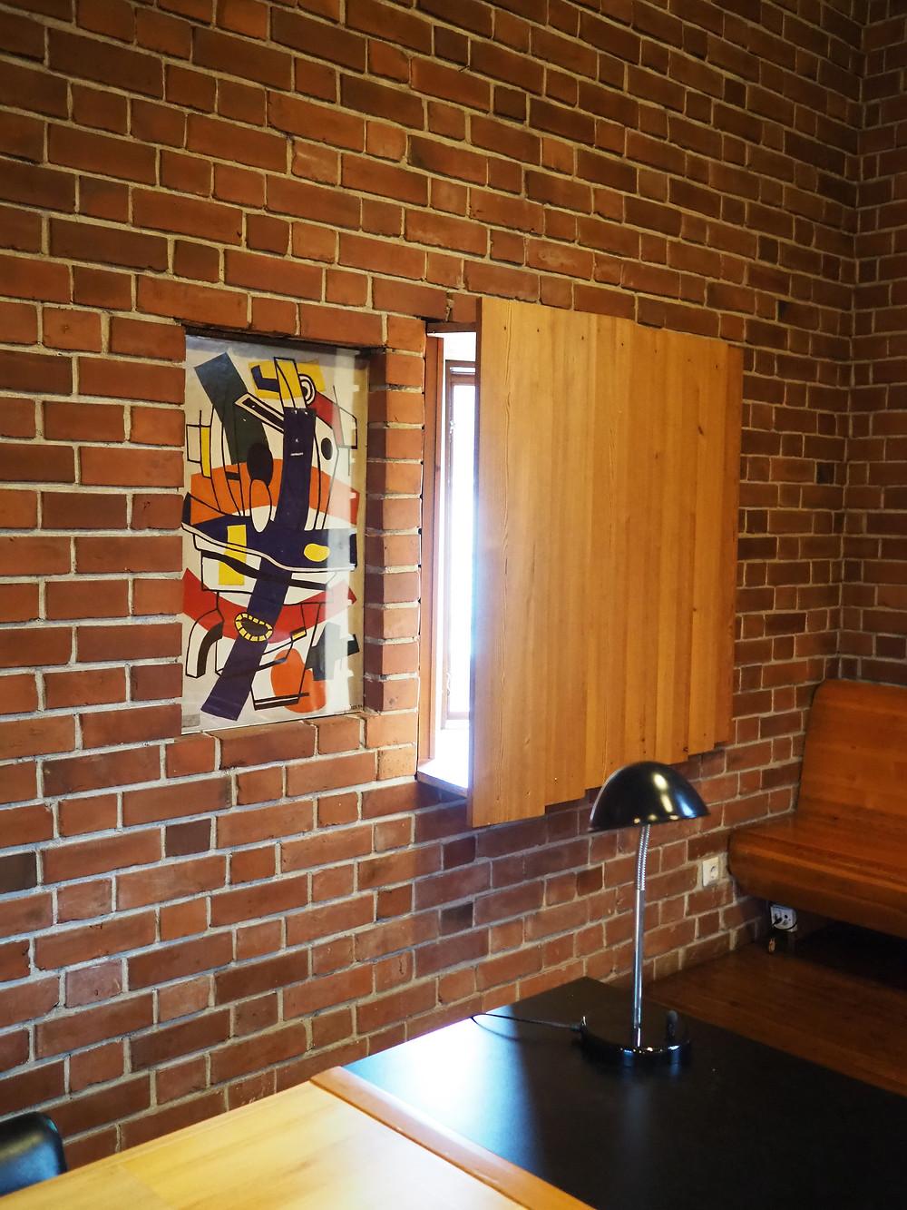 Säynätsalon kunnantalo Fernand Léger maalaus