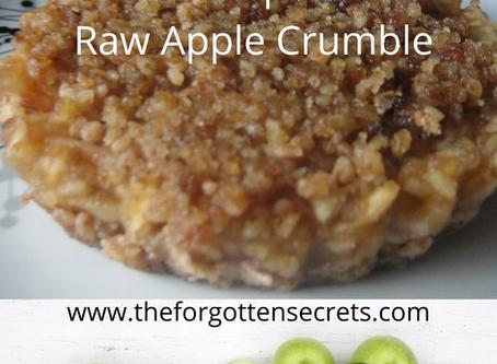 Raw Apple Crumble/Pie