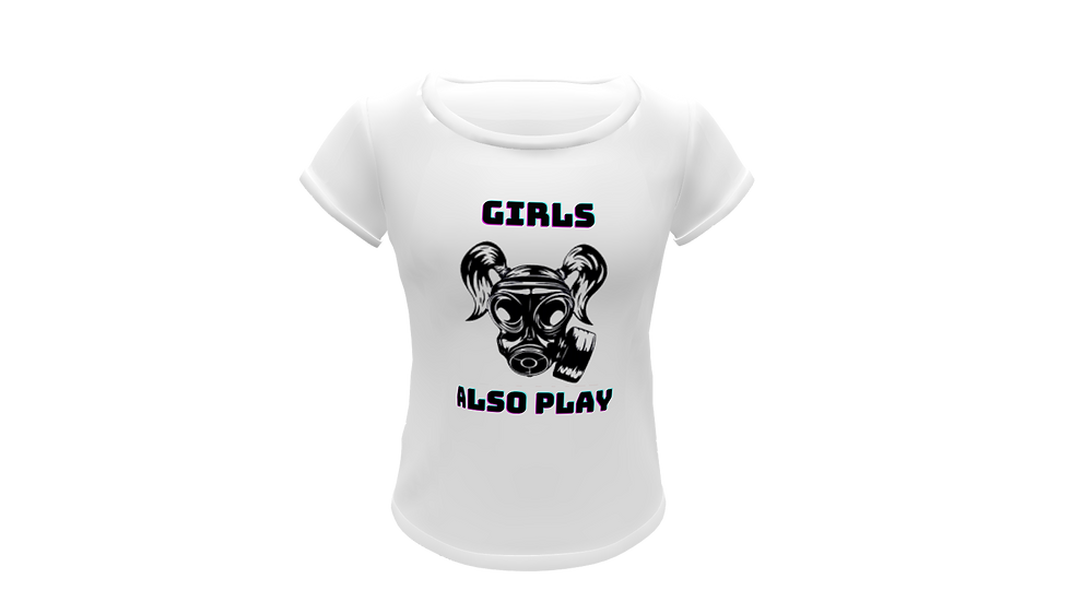 Camiseta Baby Look Girl Also Play