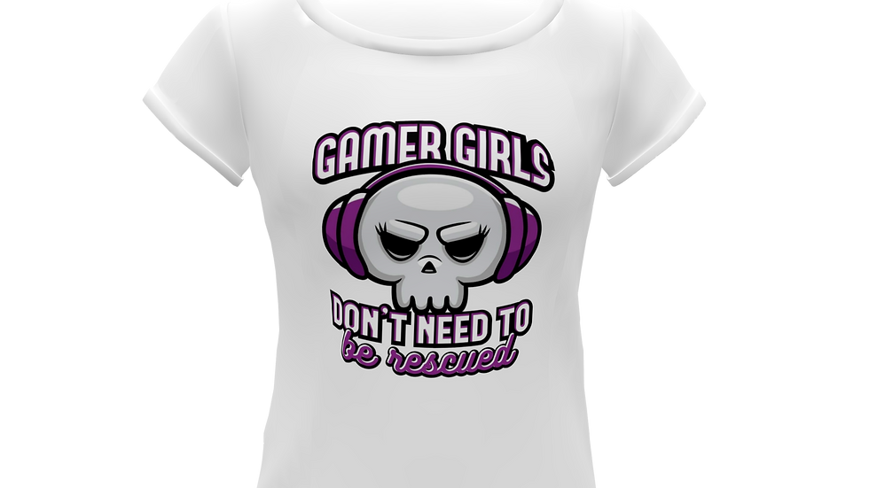 Camiseta Baby Look Gamer Girls...