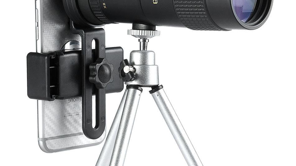טלסקופ מטורף מתחבר לטלפון מגדיל עד 100-200X - מומלץ לצלמים וחובבי טבע- מבצע חדש