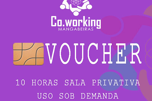 Voucher Horas Salas Privativas Uso sob Demanda'