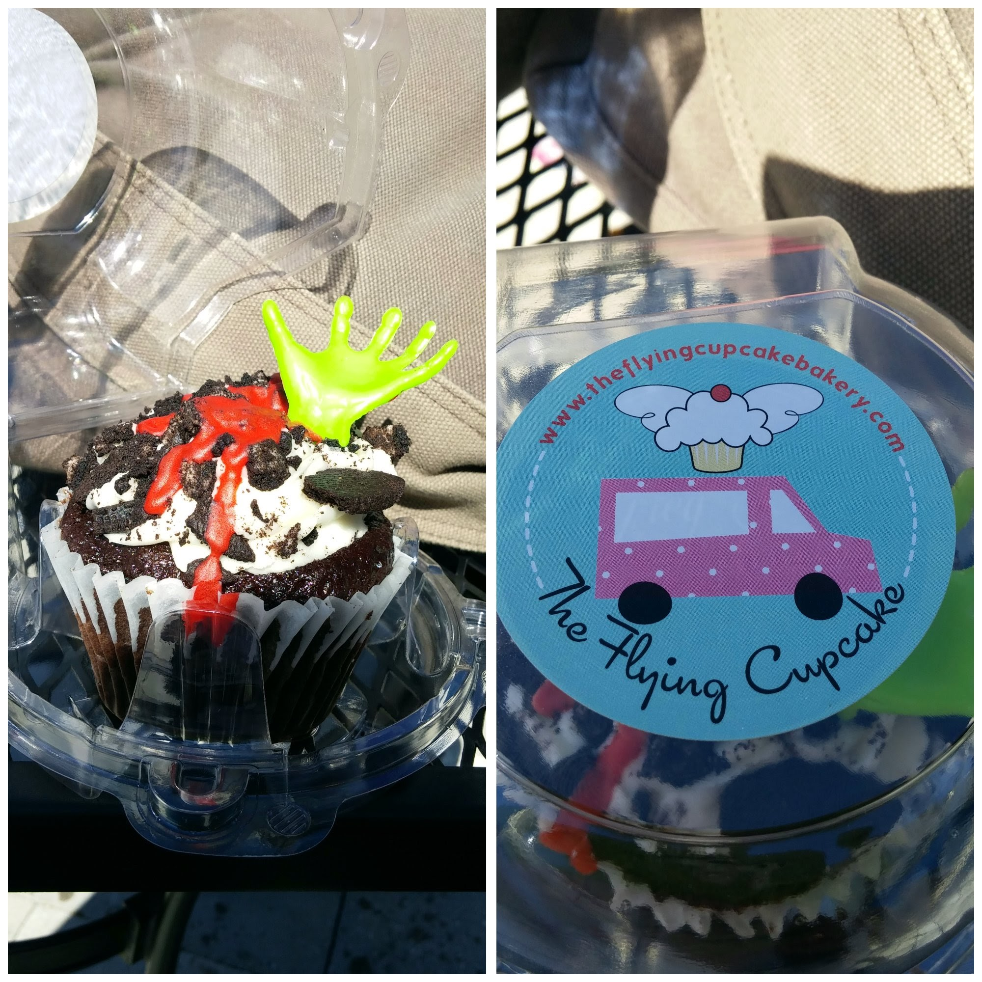 Zombie Flying Cupcake