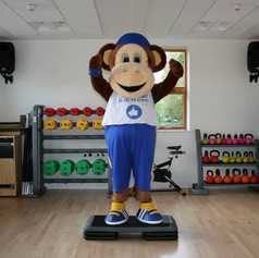 Max the mascot Believe and Achieve Trust