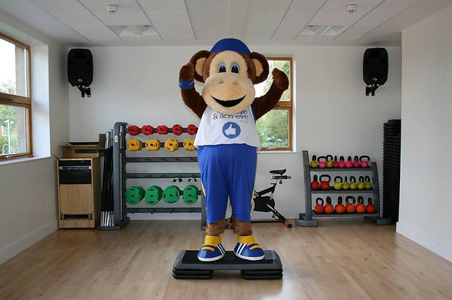 Max the mascot Believe and Achieve Trust