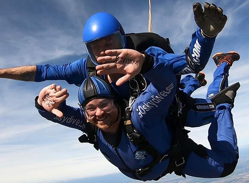 Skydiving for Believe and Achieve Trust.