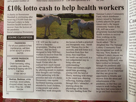 We've won a lottery fund to help Dorset's NHS workers!