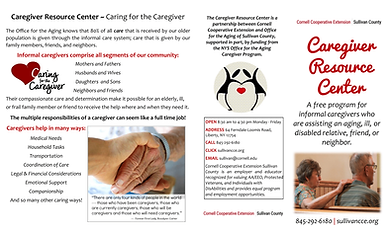 Caregiver Resouce Center Brochure