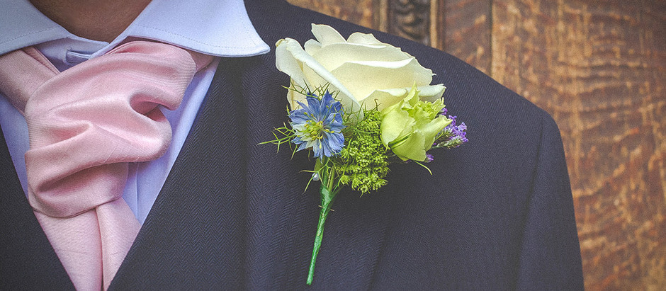 How to attach a wedding buttonhole or corsage.