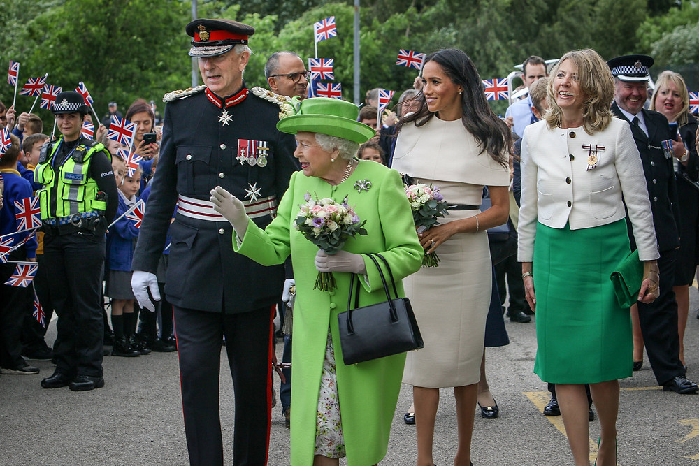 Queen Elizabeth II and Meghan Markle the Duchess of Sussex
