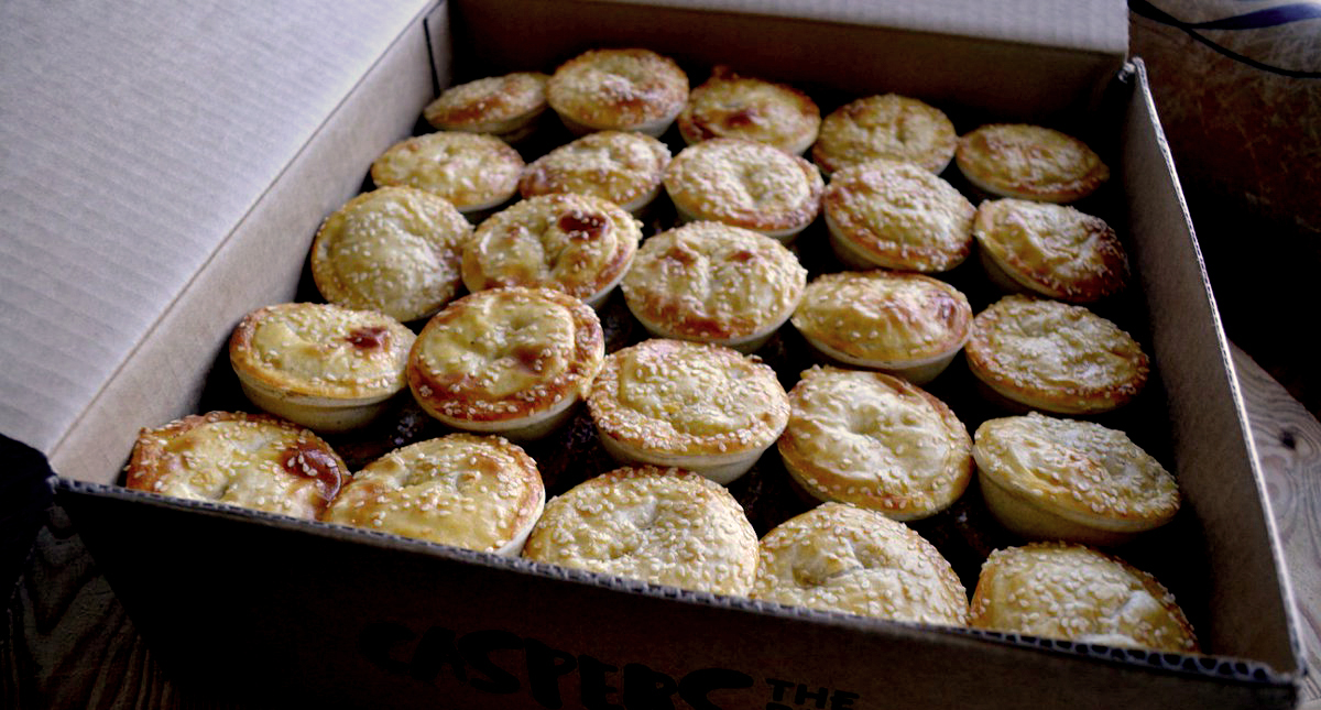 Pies in box