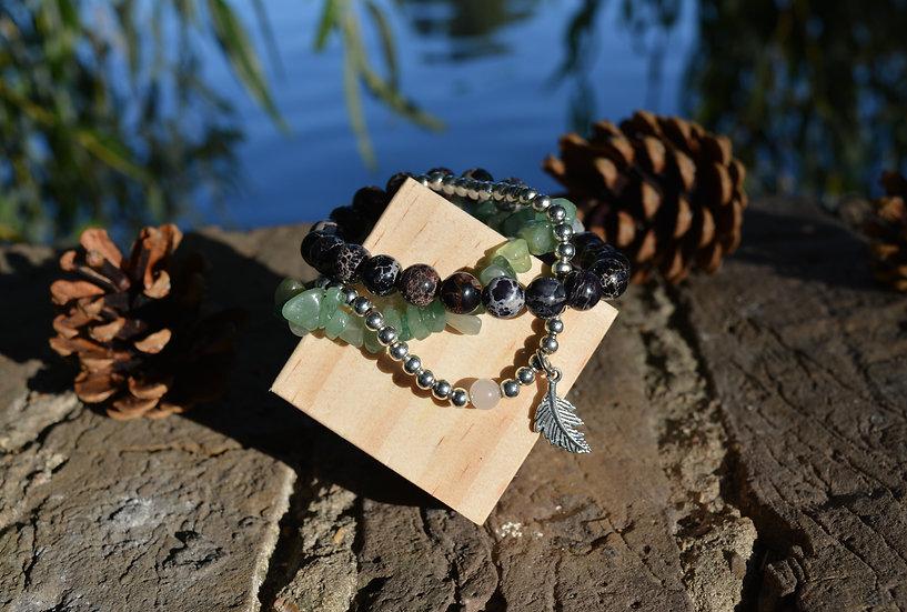 Imperial Jasper & Jade Bracelet Stack