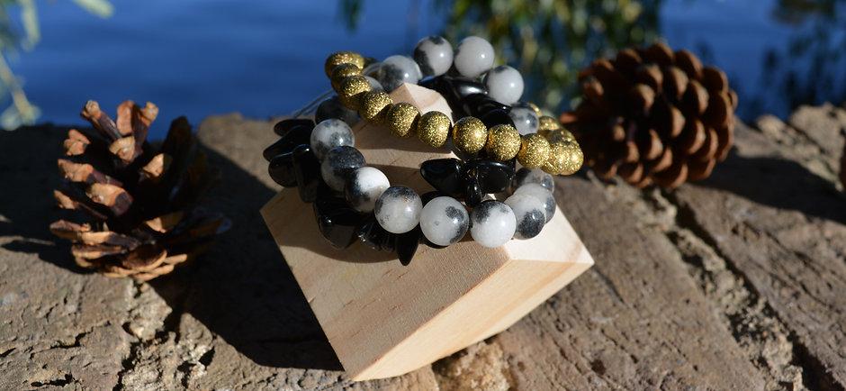 Jasper & Obsidian Bracelet Stack