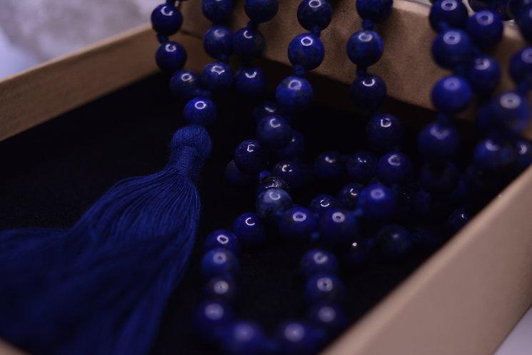 mala beads lapis lazuli