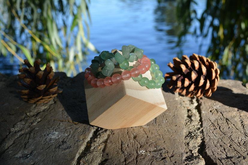 Jade & Aventurine & Quartz Bracelet Stack