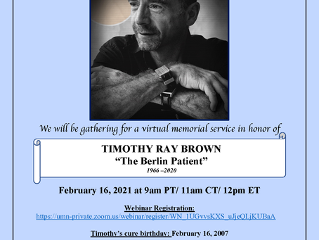 Join us for a Memorial Service in Honor of Tim Brown