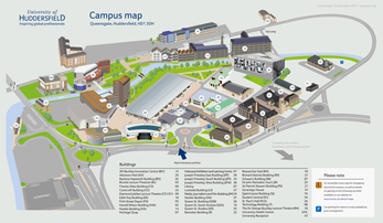 University of Huddersfield Campus Map