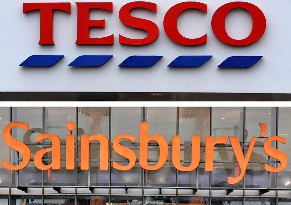 Tesco and Sainsbury's