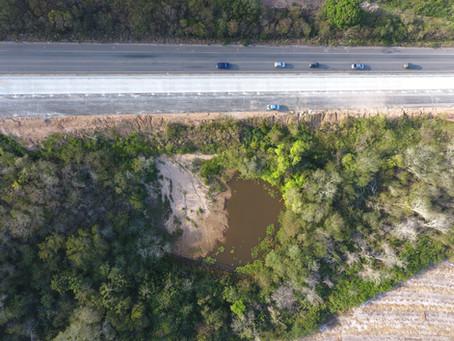 Inovação e tecnologia: utilização direta de drone para prevenir e monitorar a degradação ambiental.