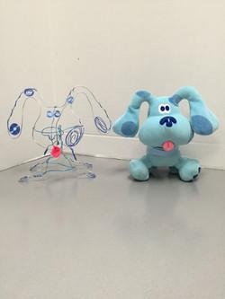 Zvon's Blue's Clues Wire Sculpture