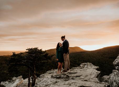 Hanging Rock, NC Engagement Session // Parker + Claudia