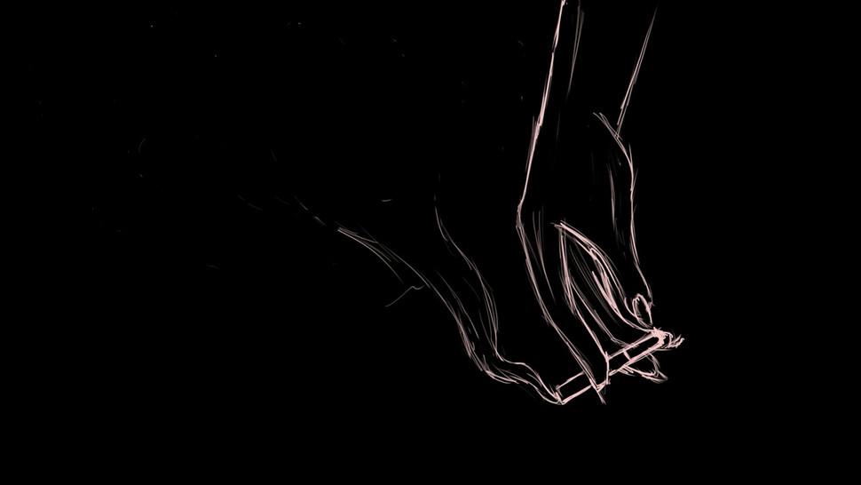 Hand Smoking Drawing