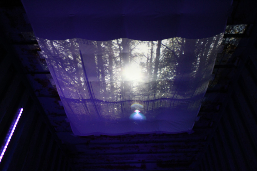 Projected Video on the Ceiling of the Container