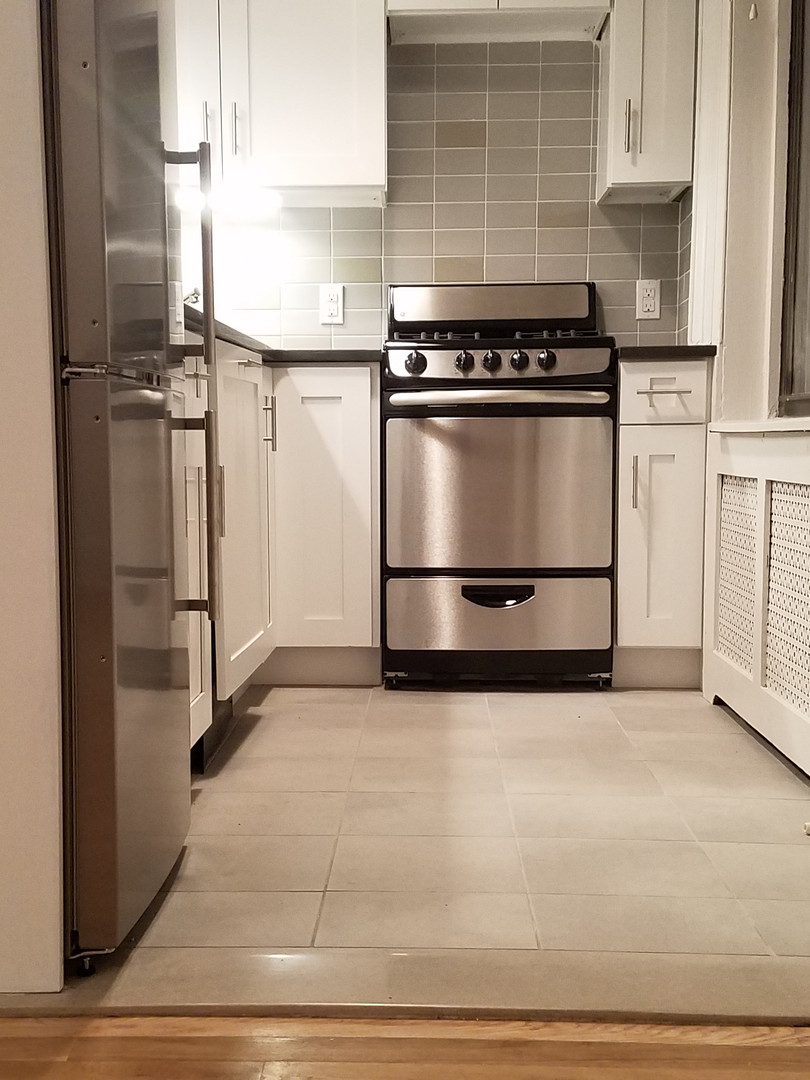 New transition between living space and kitchen