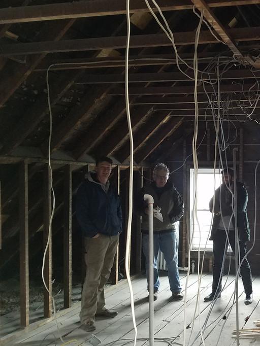 Contractor meeting during demolition