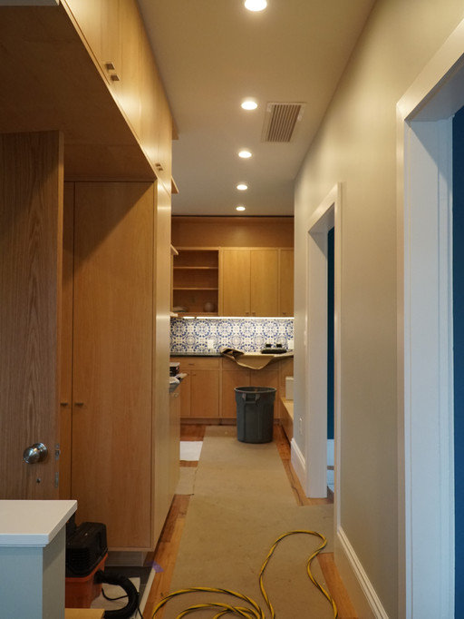 View toward kitchen from entry hall