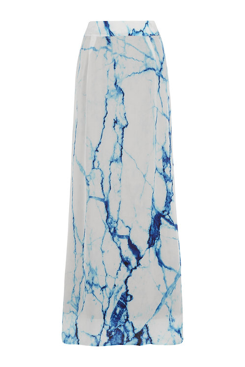 Arctic Marble | Maxi Skirt