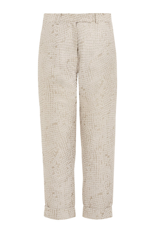 Metallic Croc | Tailored Trouser