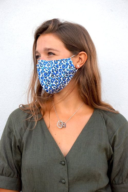 Leopard Jungle Cobalt | Face Mask